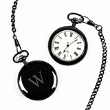 Cathy's Concepts Personalized Gunmetal-Finish Pocket Watch