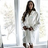 Cathy's Concepts Personalized Ultra-Soft White Plush Robe