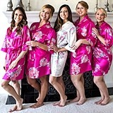 Cathy's Concepts Personalized Ultra-Soft Satin Floral Robe (5 Colors)