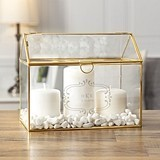 Cathy's Concepts Personalized Glass Terrarium Gift Card Holder in Gold