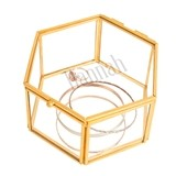 Cathy's Concepts Personalizable Gold-Colored-Frame Glass Keepsake Box