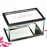 Cathy's Concepts Fantastic Engraved Glass Jewelry Box