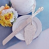 Cathy's Concepts Beautiful Silver-Plated Embossed Cake Server Set