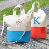 Cathy's Concepts Vibrant Color-Dipped Personalized Canvas Tote Bag