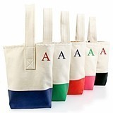 Cathy's Concepts Trendy Color-Dipped Personalized Wine Tote