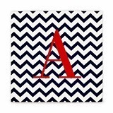 Cathy's Concepts Chevron Pattern Monogram Gallery-Wrapped Canvas