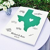 Personalized Home State Collection Gallery-Wrapped Canvas/Guest Book
