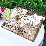"""Personalized """"Our World"""" Gallery-Wrapped Canvas/Guest Book"""