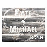 Cathy's Concepts Rustic Personalized Gallery-Wrapped Canvas