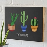 Cathy's Concepts Personalized Cactus Motif Chalkboard Sign