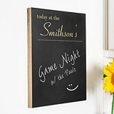 "Custom ""today at the"" Reminder Chalkboard Sign"
