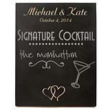 Cathy's Concepts Personalized Double Hearts Wedding Chalkboard Sign