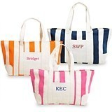 Cathy's Concepts Awesome Awning-Stripe Summer Tote Bag (3 Colors0