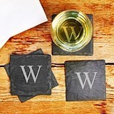 Cathy's Concepts Monogrammed Slate Coasters (Set of 4)
