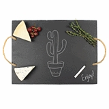 Cathy's Concepts Desert Chic Cactus Design Slate Serving Board