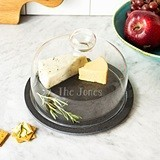 Cathy's Concepts Personalizable Slate Serving Tray with Glass Dome Lid