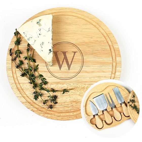 Cathy's Concepts Monogrammed Gourmet 5pc. Cheese Board Set