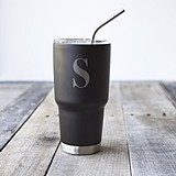 Monogrammed 30 oz. Black Stainless Steel Double-Walled Tumbler