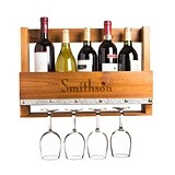 Cathy's Concepts Personalized Rustic Wall-Mounted Wine Rack