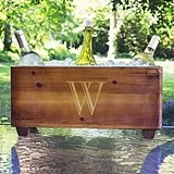 Cathy's Concepts Personalized Rustic Wooden Wine Trough