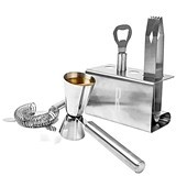 Cathy's Concepts Personalizable Stainless Steel Mixology Set