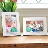 Cathy's Concepts Personalized Beaded Silver Picture Frames