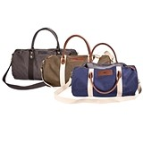Cathy's Concepts Personalized Canvas & Leather Duffle Bag (3 Colors)