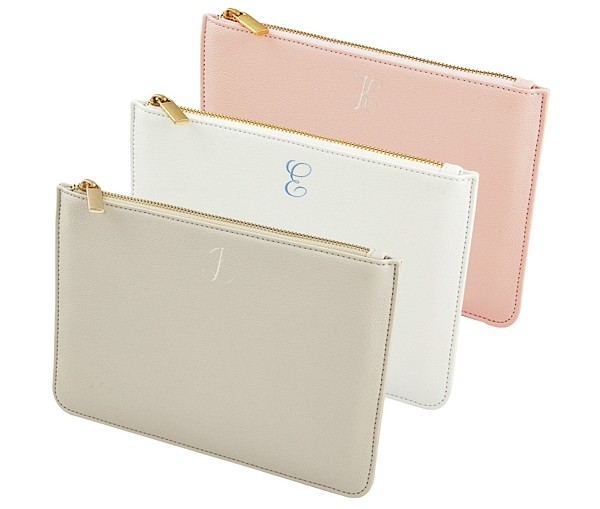 Cathy's Concepts Embroidered Vegan-Leather Clutch (3 Colors)