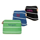 Cathy's Concepts Personalized Striped Cosmetic Bag (3 Colors)