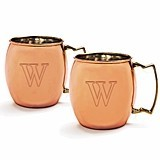 Personalized Moscow Mule Copper Mugs with Unique Handles (Set of 2)