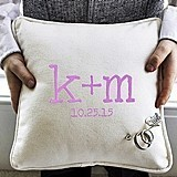 Cathy's Concepts Personalized Ring Bearer Pillow with Heart-Shaped Pin