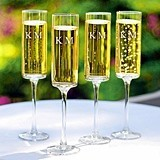 Personalized 8 oz. Contemporary Champagne Flutes (Set of 4)