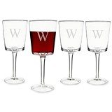 Personalized 12 oz. Contemporary Wine Glasses (Set of 4)