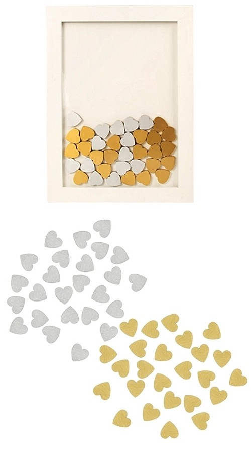 Cathy's Concepts Wooden Hearts for Heart Drop Guestbook (Set of 25)