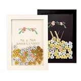 Cathy's Concepts Personalized Heart Drop Guestbook with Floral Motif