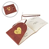 Cathy's Concepts Personalized Heart Leather Guest Book/Journal