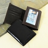Cathy's Concepts Handsome Personalized Tri-Fold Leather Wallet