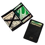 Cathy's Concepts Personalized Black Leather Magic Wallet