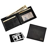 Personalized Black Bi-Fold Wallet with Multi-Function Tool (2 Colors)