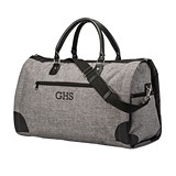 Personalized Unique Grey Convertible Duffle Bag to Garment Bag