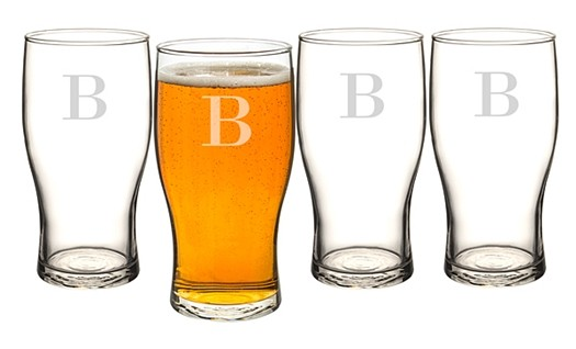 Cathy's Concepts Personalized Craft Beer Pilsner Glasses (Set of 4)