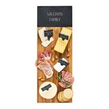 Personalized Acacia & Slate Charcuterie Serving Board w/ Slate Markers
