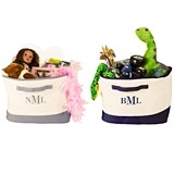 Cathy's Concepts Personalized Square Canvas Storage Bin (2 Colors)
