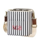 Cathy's Concepts Personalized White-and-Navy Striped Bottle Cooler