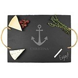 Cathy's Concepts Personalizable Anchor Motif Slate Serving Board