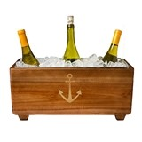 Cathy's Concepts Personalizable Anchor Design Wooden Wine Trough