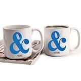 Personalized Ampersand Motif 20 oz. Large Coffee Mugs (Set of 2)