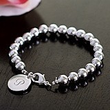 Cathy's Concepts Personalized Silver Bead Bracelet