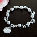 Cathy's Concepts Personalized Romance Pearl Bracelet