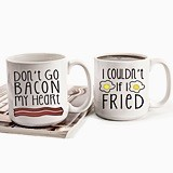 Bacon & Eggs Design 20 oz. Large Coffee Mugs (Set of 2)
